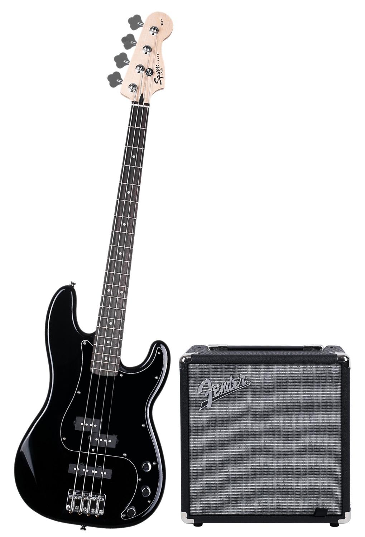 Fender Squier Affinity Series Precision Bass PJ BLK Pack